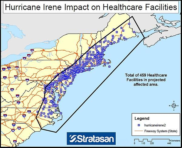 Healthcare Facilities in Affected Area